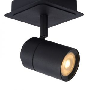LENNERT – Ceiling spotlight Bathroom – LED Dim. – GU10 – 1x5W 3000K – IP44 – Black